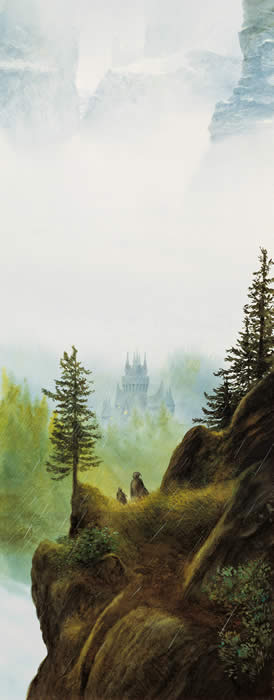 Descent to Rivendell by John Howe