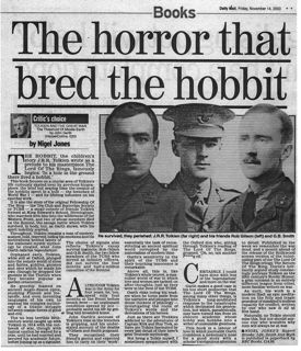 Tolkien and the Great War Daily Mail review by Nigel Jones
