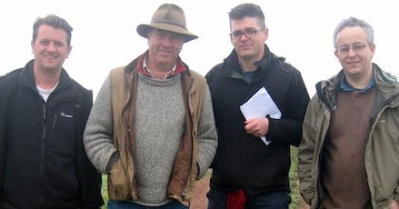 Jeremy Banning, Peter Barton, Sebastian Barfield and John Garth at Thiepval, October 2013