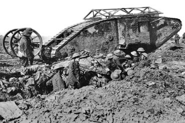 Tank, Thiepval, 25 September 1916