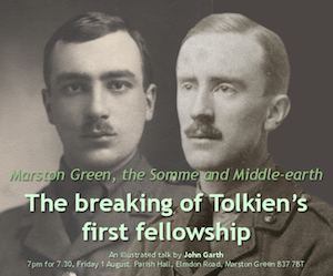 John Garth's talk on the breaking of Tolkien's first fellowship